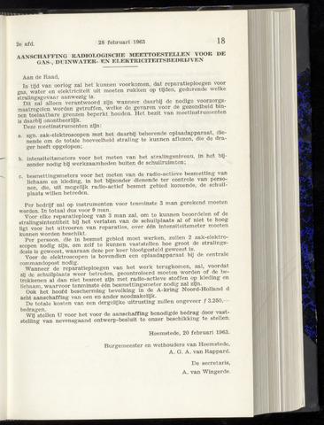 Raadsnotulen Heemstede 1963-02-28