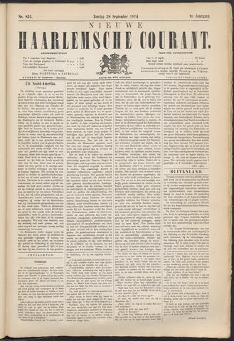 Nieuwe Haarlemsche Courant 1884-09-28