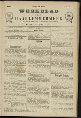 Weekblad van Haarlemmermeer 1884-03-21