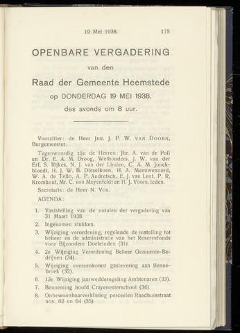 Raadsnotulen Heemstede 1938-05-19