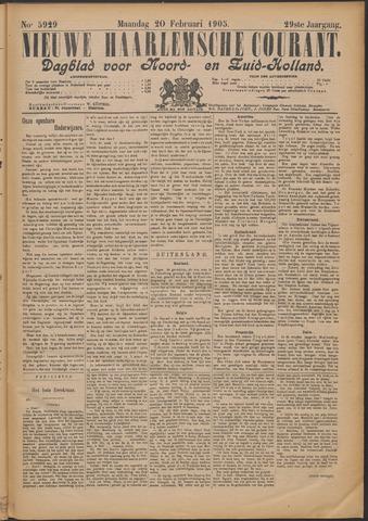 Nieuwe Haarlemsche Courant 1905-02-20