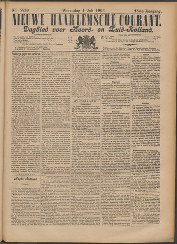 Nieuwe Haarlemsche Courant 1903-07-01
