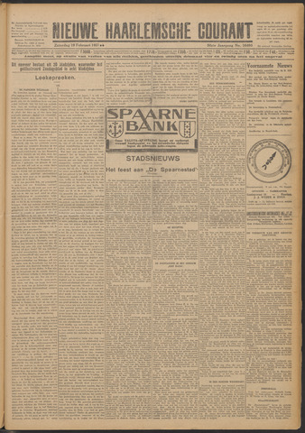 Nieuwe Haarlemsche Courant 1927-02-19