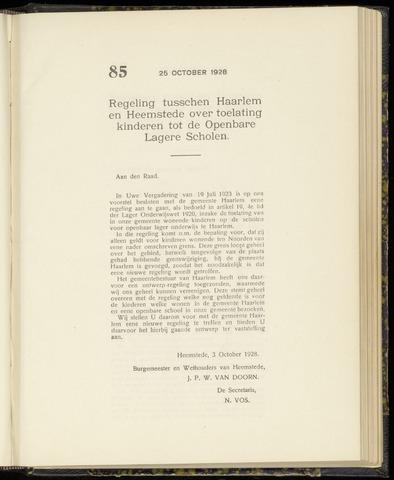 Raadsnotulen Heemstede 1928-10-25