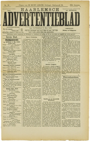 Haarlemsch Advertentieblad 1889-05-04