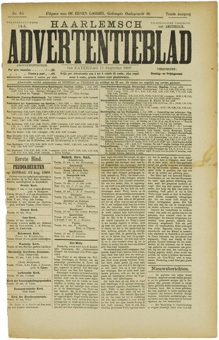 Haarlemsch Advertentieblad 1888-08-11