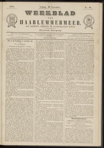Weekblad van Haarlemmermeer 1875-11-26