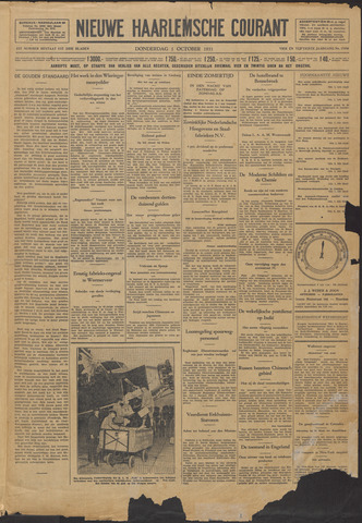 Nieuwe Haarlemsche Courant 1931-10-01