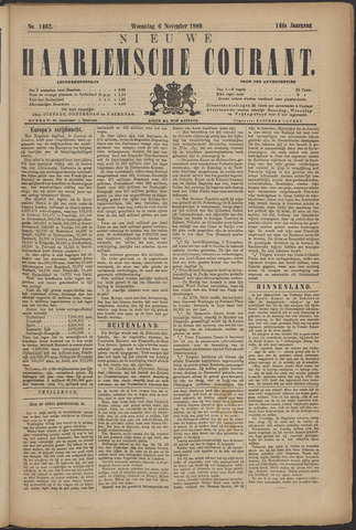 Nieuwe Haarlemsche Courant 1889-11-06