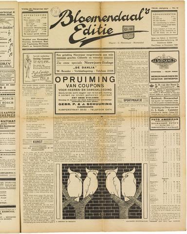 Bloemendaal's Editie 1927-12-30