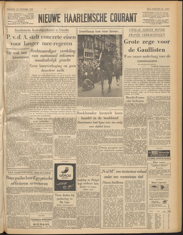Nieuwe Haarlemsche Courant 1958-11-24