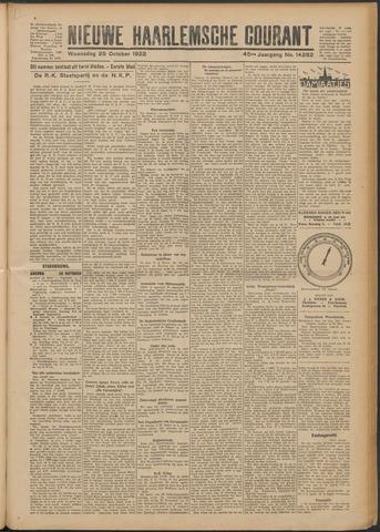 Nieuwe Haarlemsche Courant 1922-10-25