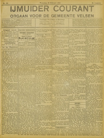 IJmuider Courant 1921-02-16