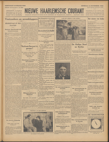 Nieuwe Haarlemsche Courant 1933-11-14