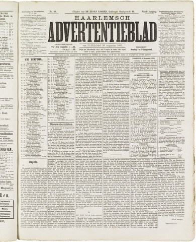 Haarlemsch Advertentieblad 1882-08-26