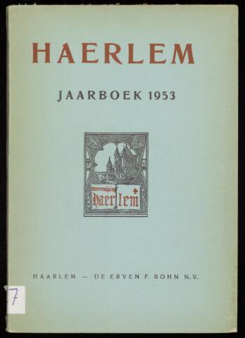 Jaarverslagen en Jaarboeken Vereniging Haerlem 1953