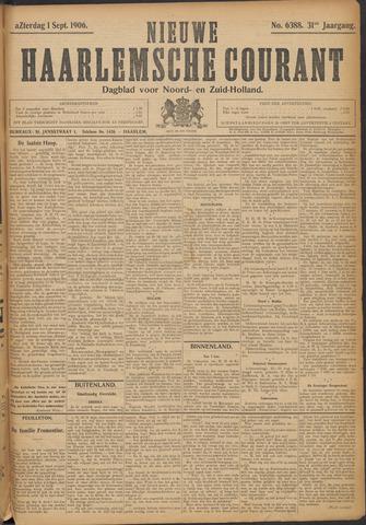 Nieuwe Haarlemsche Courant 1906-09-01