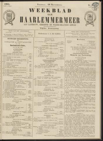 Weekblad van Haarlemmermeer 1864-11-18