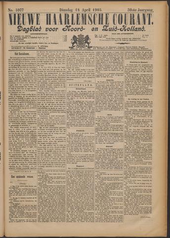 Nieuwe Haarlemsche Courant 1905-04-18