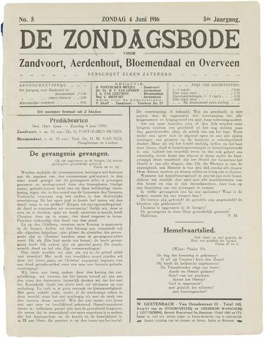 De Zondagsbode voor Zandvoort en Aerdenhout 1916-06-04