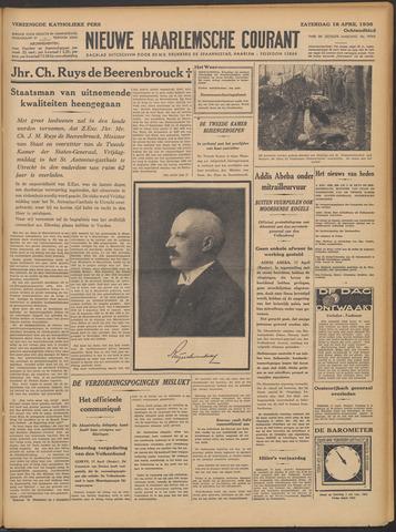 Nieuwe Haarlemsche Courant 1936-04-18