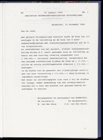 Raadsnotulen Heemstede 1990-01-25