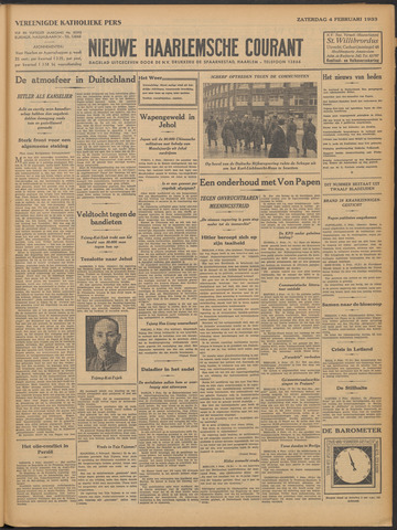 Nieuwe Haarlemsche Courant 1933-02-04