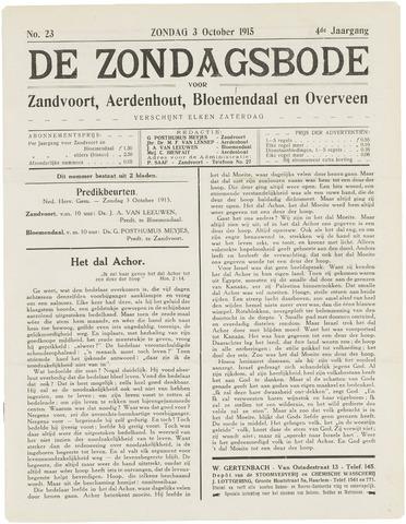 De Zondagsbode voor Zandvoort en Aerdenhout 1915-10-03