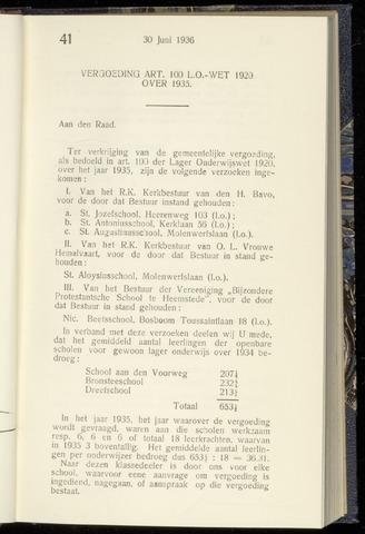 Raadsnotulen Heemstede 1936-06-30