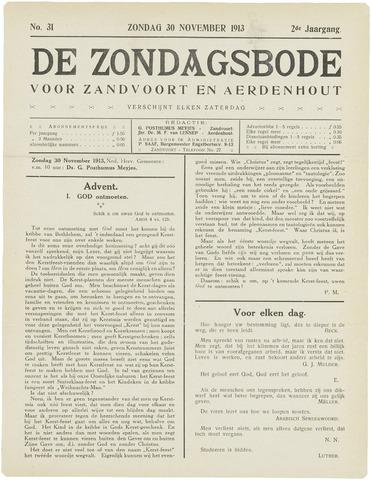 De Zondagsbode voor Zandvoort en Aerdenhout 1913-11-30