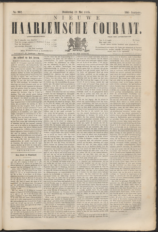 Nieuwe Haarlemsche Courant 1885-05-21