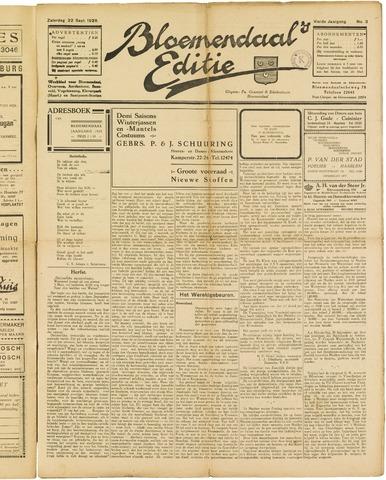 Bloemendaal's Editie 1928-09-22