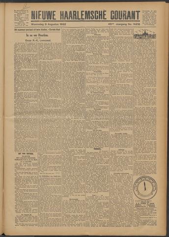 Nieuwe Haarlemsche Courant 1922-08-09