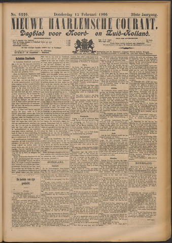 Nieuwe Haarlemsche Courant 1906-02-15