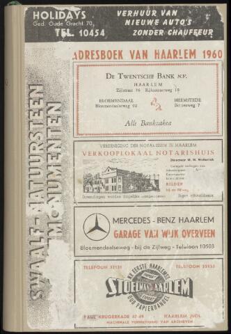 Adresboeken Haarlem 1960