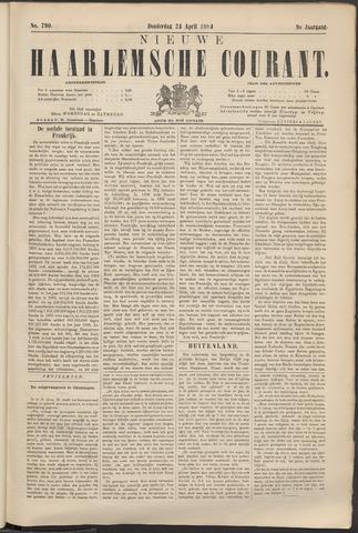 Nieuwe Haarlemsche Courant 1884-04-24