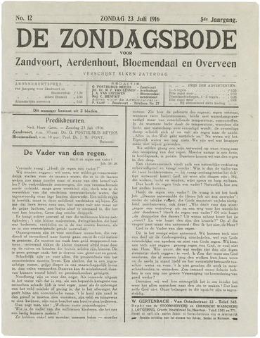 De Zondagsbode voor Zandvoort en Aerdenhout 1916-07-23