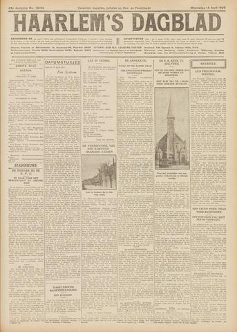 Haarlem's Dagblad 1926-04-14