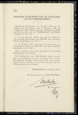 Raadsnotulen Heemstede 1943-10-04