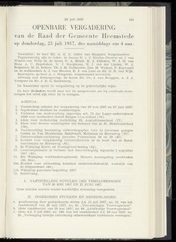 Raadsnotulen Heemstede 1957-07-25