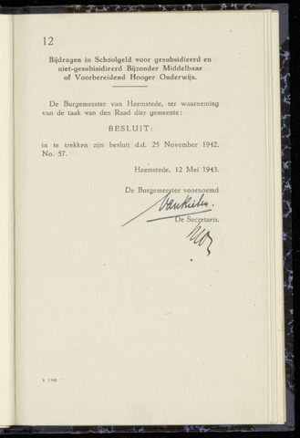 Raadsnotulen Heemstede 1943-05-12