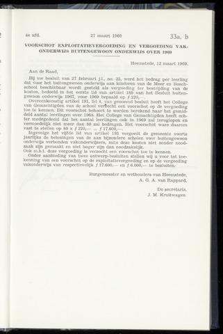 Raadsnotulen Heemstede 1969-03-27