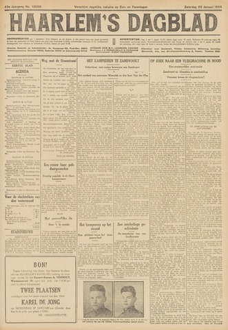 Haarlem's Dagblad 1926-01-23