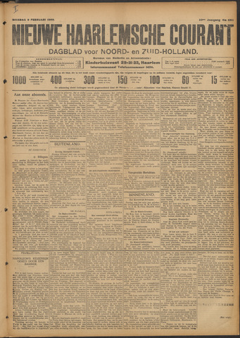 Nieuwe Haarlemsche Courant 1909-02-09