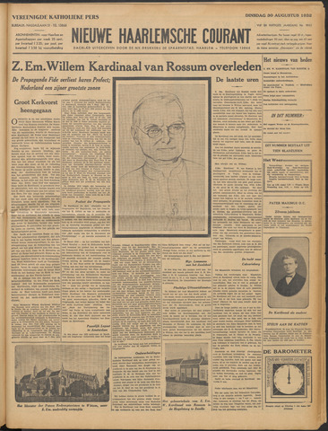 Nieuwe Haarlemsche Courant 1932-08-30