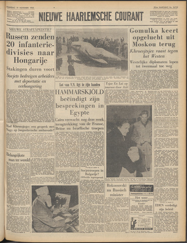 Nieuwe Haarlemsche Courant 1956-11-19