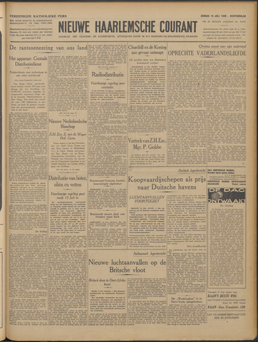 Nieuwe Haarlemsche Courant 1940-07-14