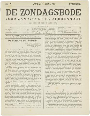 De Zondagsbode voor Zandvoort en Aerdenhout 1913-04-06
