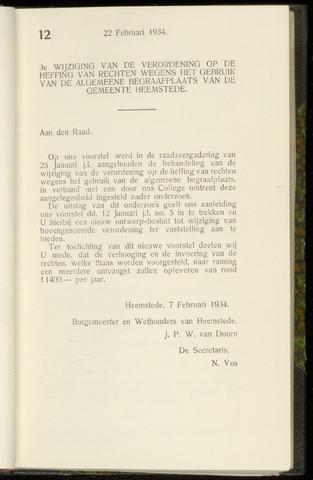 Raadsnotulen Heemstede 1934-02-22