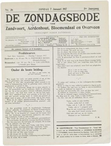 De Zondagsbode voor Zandvoort en Aerdenhout 1917